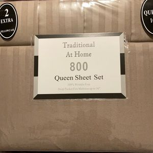 Transitional at Home 6pcQueen Sheet Set Almond